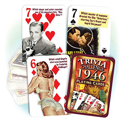 Flickback 1946 Trivia Playing Cards, 70th Birthday, 70th Anniversary Gift