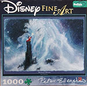 Disney Fine Art 1000 Piece Puzzle - Mickey's Dream By Peter Ellenshaw