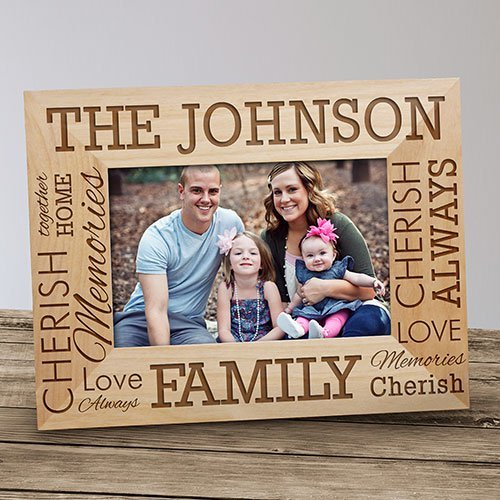 Engraved Family Name Wood 4x6 Frame (Family Name Frame compare prices)