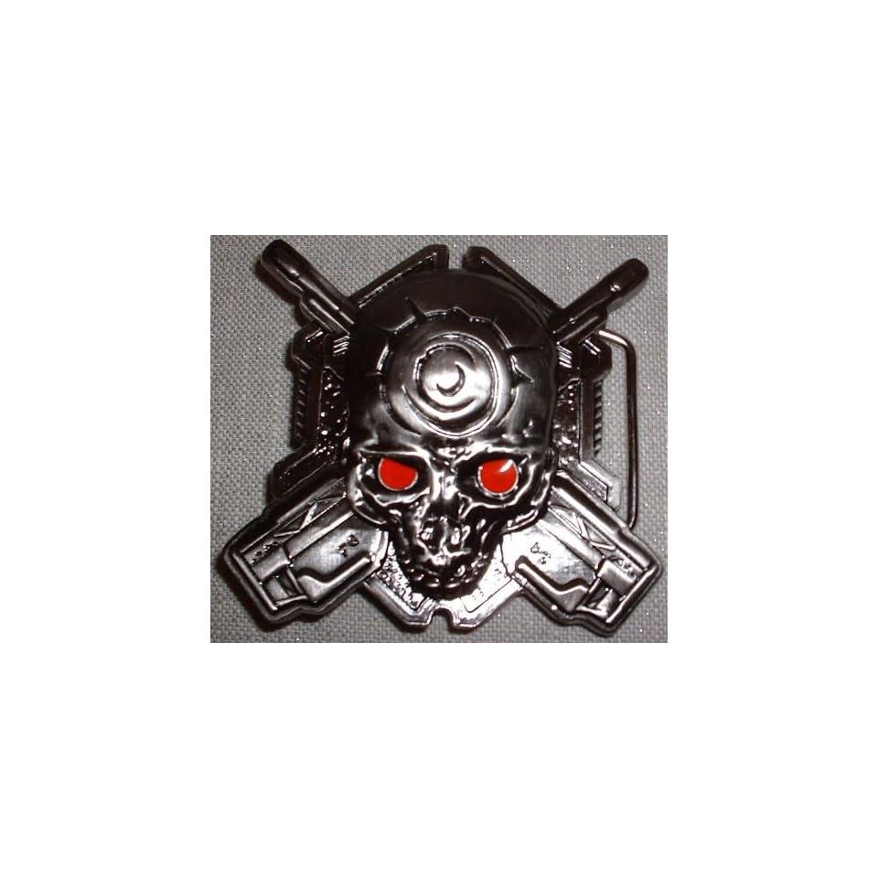 Halo 3 ODST Helljumper Skull Metal Belt BUCKLE