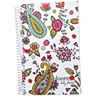 bloom daily planners 2015 Calendar Year Planner - Passion/Goal Organizer - Fashion Agenda - Weekly Diary - Monthly Datebook - (January 2015 Through December 2015) Paisley Hearts