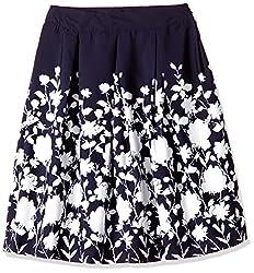 Harpa Women's A-Line Skirts (GR2670_Navy_34)