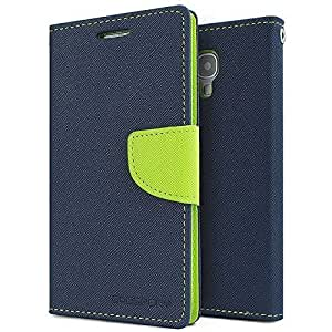 Mercury Fancy Diary Case Flip Cover For Samsung Galaxy Core Prime G360H (Blue Green)