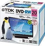 TDK 録画用DVD-RW デジタル放送録画対応(CPRM) 1-2倍速 インクジェットプリンタ対応(ホワイト・ワイド) 20枚パック 5mmスリムケース DRW120DPWA20U