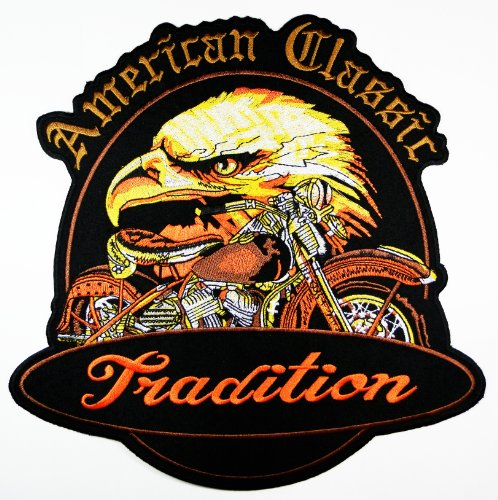 American Bald Eagle Patches Logo7 Us National Symbol Biker Jacket Vest Large Embroidered Patch