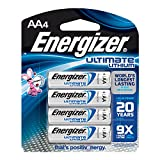 Energizer Ultimate Lithium AA Batteries, World's Longest-Lasting  AA Battery, 4 pack
