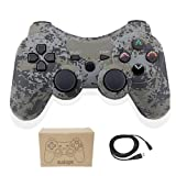 Kolopc Wireless Bluetooth Controller For PS3 Double Shock - Bundled with USB charge cord (Camouflage1) (Color: Camouflage1)