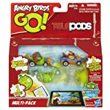 There are two ways to play with the Angry Birds Go! Multi-Pack! This set of vehicles brings you a flock of Angry Birds with bad little piggies to race around your tracks, or you can teleport 2 of the karts right into the Angry Birds Go! App on your iPhone, iPad, or other device (not included, as that would be quite the steal.) No matter which way you play, this set is a winner! Ages 5 and up.