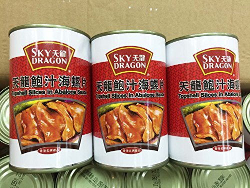 Canned Food Topshell Slices in Aabalone Sauce 鮑汁海螺片 Free Worldwide Airmail