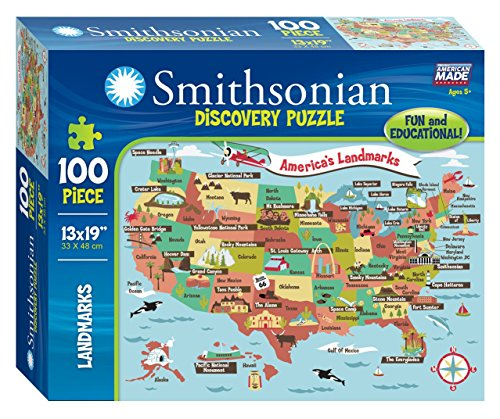 Smithsonian 100-piece America's Landmarks Discovery Puzzle (Smithsonian Motor compare prices)