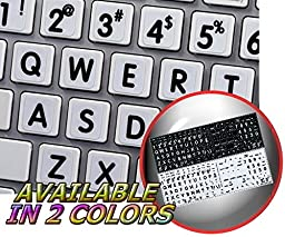 MAC ENGLISH LARGE LETTERING KEYBOARD STICKER ON WHITE BACKGROUND FOR DESKTOP, LAPTOP AND NOTEBOOK