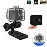 HD Mini Camera - 1080P Hidden Camera Waterproof 2 Mega Pixel Sport DV Camcorder With Night Vision 155 Degree View Lens Car DVR Camera Motion Detection for Bicycle Motorcycle Ski Diving Snorkeling