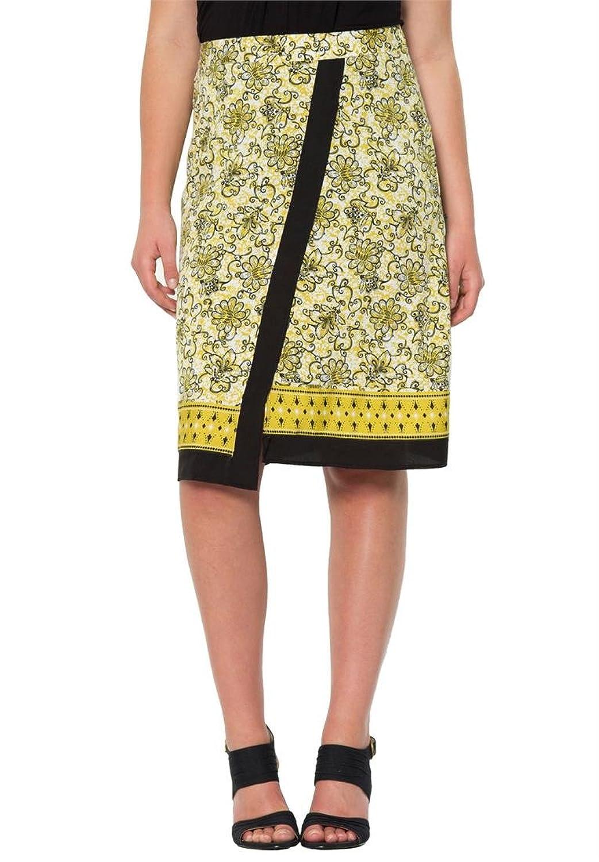 Roamans Women's Plus Size Faux Wrap Skirt bcbgeneration women s faux wrap skirt
