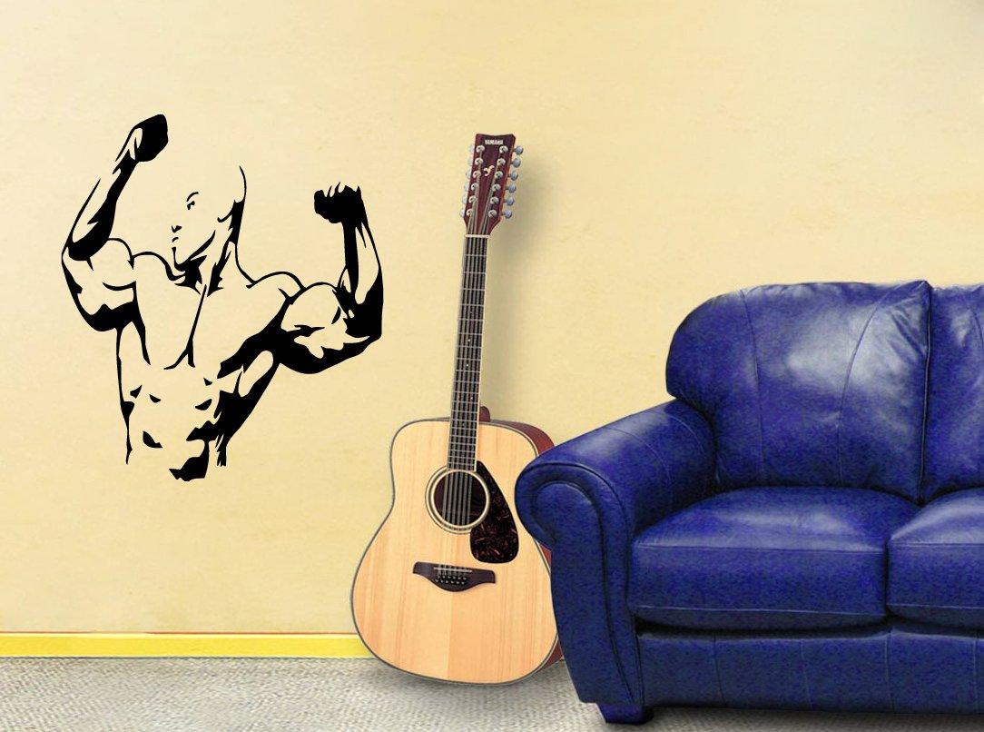 Wall Mural Vinyl Sticker Decal Body Building Gym Sport Sign A1339