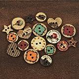 "Romance Novel Wood Buttons .75"" To 1"" 18/Pkg-"