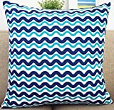 Beach-Theme-Howarmercanvas-Aqua-Blue-Decorative-Pillow-Covers-Beach-Theme-Pillow-Case-Set-of-4-Fishesanchorssea-Stars-and-Chevron-18-X-18