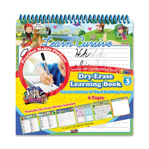 Board Dudes Wire Bound Dry Erase Activity Book - Cursive and Math/Time (11210UA-4)