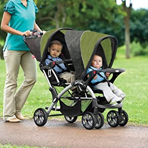 Elite Sit n Stand Double Stroller