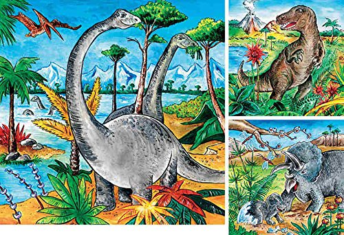 Dinosaurs 3-in-1 Jigsaw Puzzle 49pc