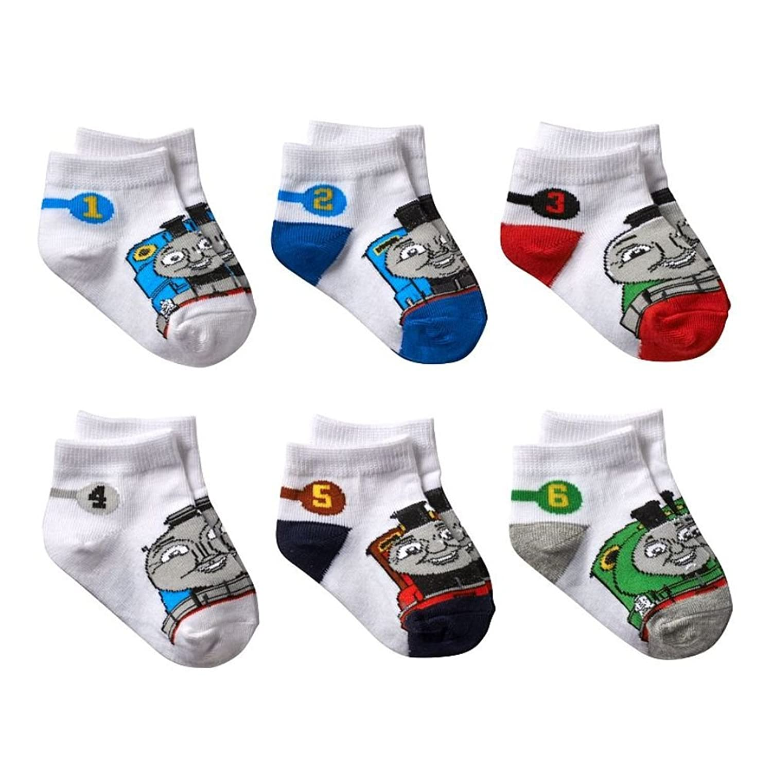 Thomas & Friends Little Boys' Numbered Socks 6 Pack Size 2-4 little friends flashcards набор из 21 карточки