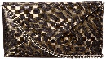 Jessica McClintock Leopard Envelope Clutch,Leopard,One Size