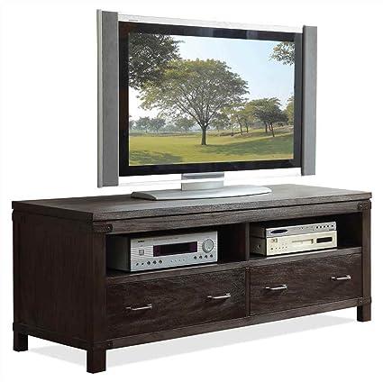 Riverside Furniture Promenade 60 Inch TV Console in Warm Cocoa