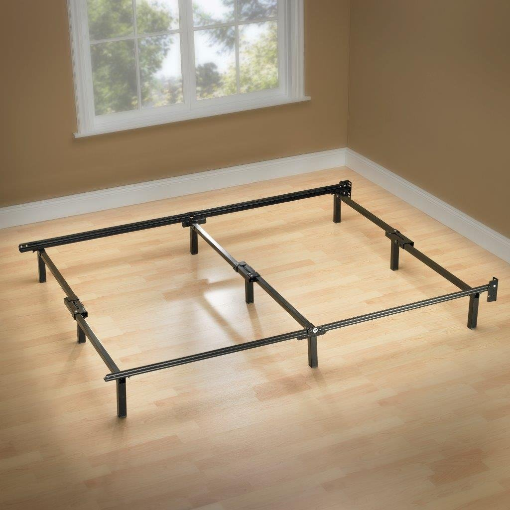 Adjustable Full Queen Bed Frame : Zinus compack adjustable steel bed frame twin full queen