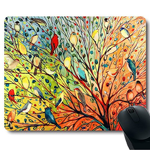 pershoo-anti-slip-laptop-pc-mousepadmouse-mat-gaming-rubber-mouse-pad-birds-plants-leaves-soft-silic