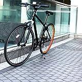 DREADNOUGHT(ドレッドノート)DN8001700C(27インチ)クロスバイク【ブラック×オレンジ】シマノ7段変速高速48Tチェーンホイール Vブレーキ 12.8kg フロントサスペンション(Fサス)/スタンド付/カラーリム アルミフレーム