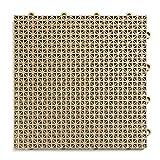 DuraGrid DTBGE Modular Deck Tiles, Beige, 30-Pack
