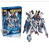 Transformer I Robot Gundam Diamond Blocks 689pcs Toy Set, 3D Figure Micro Blocks Fun Parent and Child Education Play Toys.