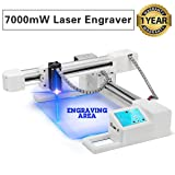 YAN'S 7000mW Off-line Laser Engraving Machine, USB Portable Household Engraver, Carver Size 155x175mm, Logo DIY for Craft Lover,High Speed Engraving Printer for Wood,Plastic,Leather,Acrylic,Metal.(7W)