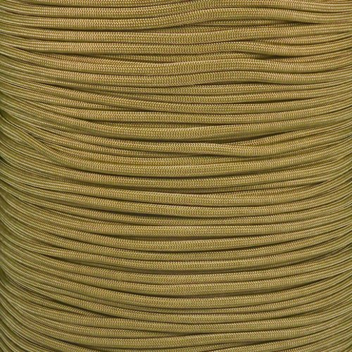 Paracord Planet 550 Cord Type III 7 Strand Paracord 20 Foot Hank - Gold Nugget