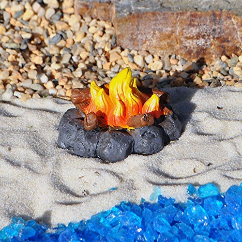 Miniature Fairy Garden Campfire Mini Dollhouse Accessory Décor Accent Figurine
