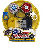 Stadium Beyblade Battle With 2 Beyblades & Launcher Bey Blade Spinning Tops Kids