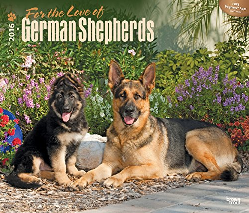 For the Love of German Shepherds 2016 Deluxe Wall Calendar
