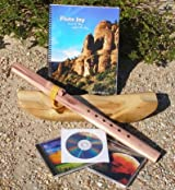 Key of A 6-Hole Unfinished Cedar Native American Style Flute, Book & 3 CDs