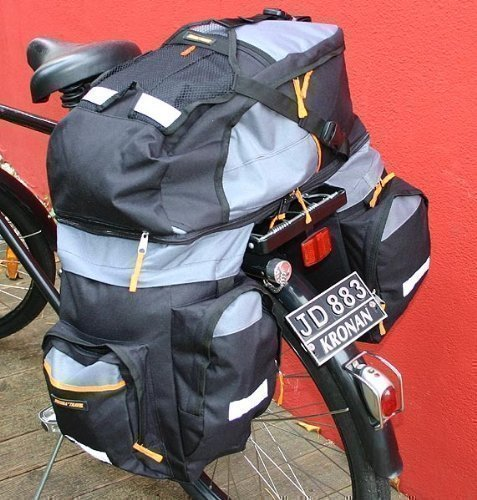 TRAVELLER Fahrrad Doppelpacktasche abnehmbarer RUCKSACK