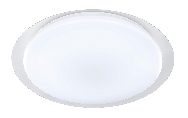 WOFI Deckenleuchte, 1-flammig, Serie Jaden, 1 x LED, 56 W, Höhe 12.5 cm, Durchmesser 68 cm, Kelvin 6000, Lumen 4000, weiß 9662.01.06.0680