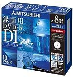 三菱化学メディア Verbatim DVD-R DL 2層式 1回録画用 215分 2-8倍速 5mmケース 10枚パック ワイド印刷対応 ホワイトレーベル VHR21HDSP10
