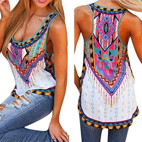Mosunx(TM) Women New Summer Vest Top Sleeveless Blouse Casual Tank Tops T-Shirt (XXXL, Multicolor)