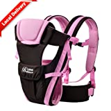 Baby & Child Carrier Baby Carrier Backpack Ventilate Adjustable Buckle Mesh Wrap(PINK) (Color: Pink)