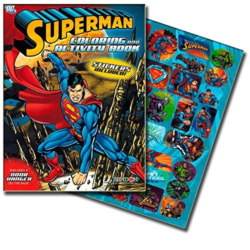 SUPERMAN Jumbo Coloring Book with Stickers (144 Pages) - 1