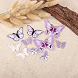 10 x Lilac Assorted Butterfly Fabric Motifs Iron on Stick on Sew on Embroidery Patch