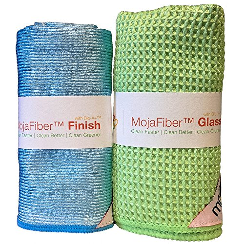 Best Glass Cleaning and Polishing Microfiber Combo Pack for Windows & Mirrors: Super Absorbent Waffle Weave Glass Cloth + Amazing Finish Cloth for a Perfect Shine (Perfect Cloth compare prices)
