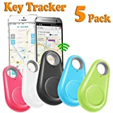 GBD 5 Pack Smart Key Finder Locator for Kids Boys Girls Pets Keys Wallet Keychain Car Dog Cat Tracker Child Phone Alarm Anti Lost Selfie Shutter Wireless Seeker Sensor (Color: 5P Key Finder Locator)