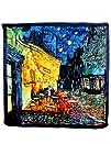 Dahlia Womens 100 Silk Scarf  Van Gogh 8220Cafe Terrace