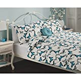 Stylish George Home Heirloom Butterfly Duvet Set DOUBLE - 200 x 200 cm and two pillowcase 48 x 74 cm