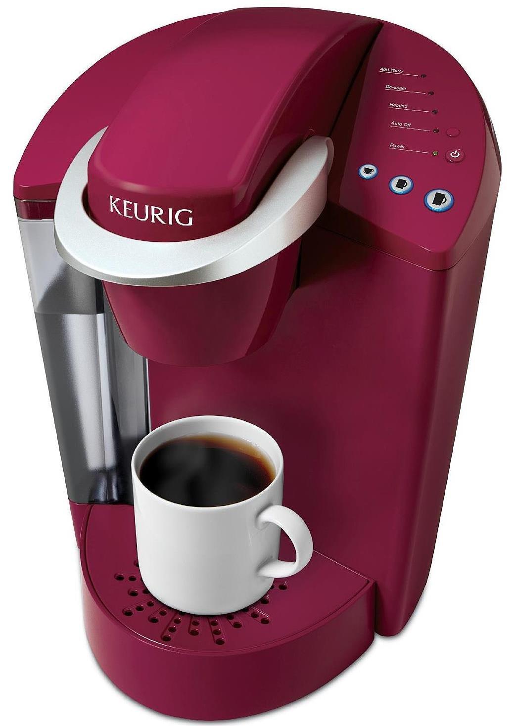 Keurig Elite K40 Single Serve Cup Coffeemaker Programmable Brewing System, Rhubarb Red (Certified Refurbished)