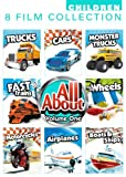 All About 8 Pack Volume 1: Car, Monster Trucks, Trucks, Fast Trains, Fun On Wheels, Motorcycles, Airplanes, Boats And Ships